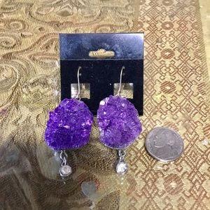 Amethyst Rock Earrings